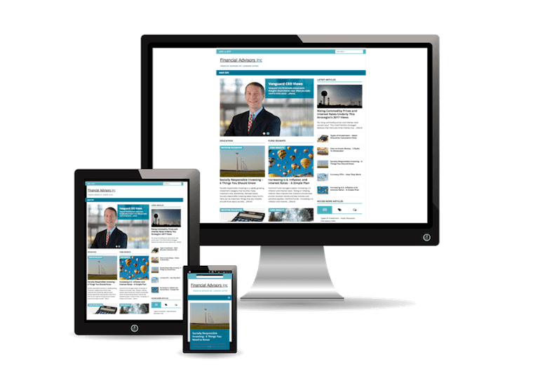 Financial Advisor Website on All Devices
